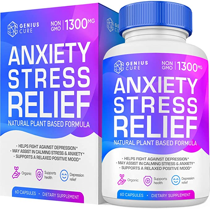 Genius Anxiety & Stress Relief Supplement, Helps Relax The ...